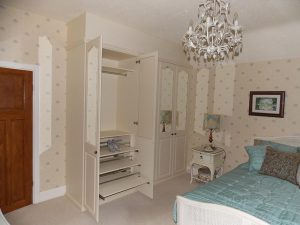 beautiful hinged wardrobe with exquisite shoe storage