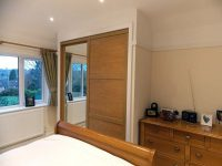 light oak and mirror sliding wardrobe doors