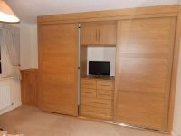 cherry wood sliding door wardrobe