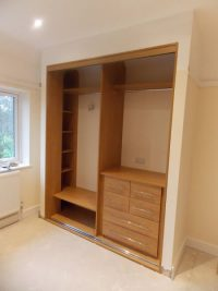 oak sliding door wardrobe internal partitions