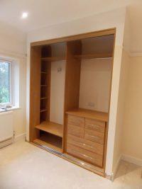 oak sliding door wardrobe internal partitions