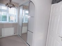 white an stainless steel sliding wardrobe doors
