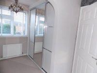 white an stainless steel sliding wardrobe doors
