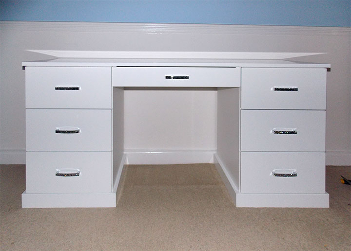 custom made desk and drawers