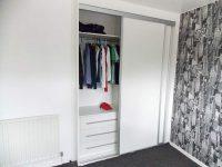 white gloss wardrobe interior configuration