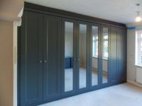 beautiful custom fitted-wardrobe with hinged-doors fashionable grey