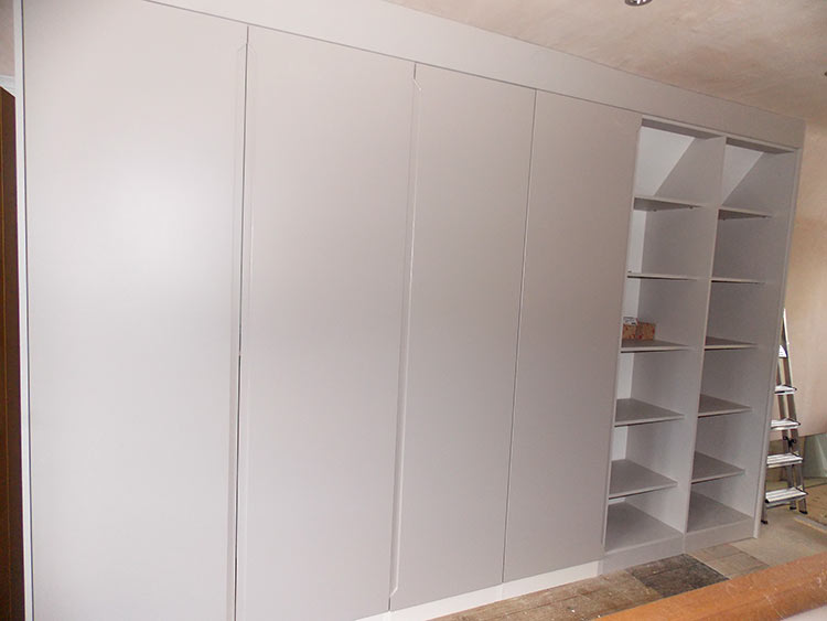 cashmere fitted hinged wardrobe opened