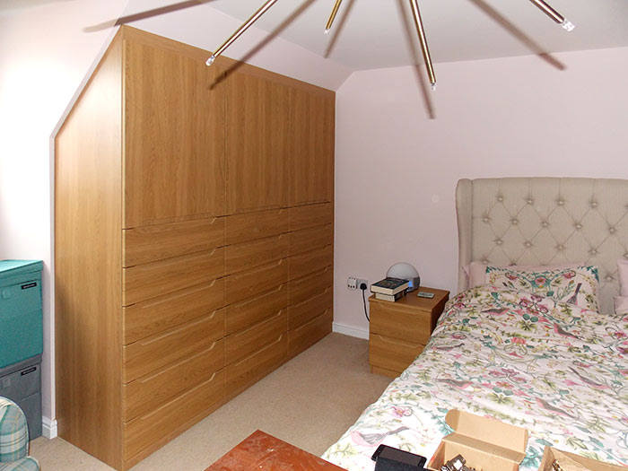 bespoke fitted bedroom storage made installed