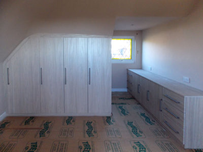 Bespoke Fitted Wardrobe Hinged Doors Dormer