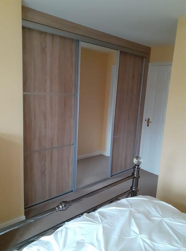 sliding-wardrobe wood-finish